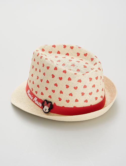 Sombrero de paja 'Minnie'                             ROJO