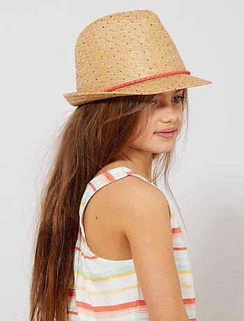 a8677a63ff953 Niña 3-12 años - Sombrero de paja multicolor - Kiabi