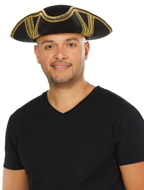 Sombrero de pirata                             negro