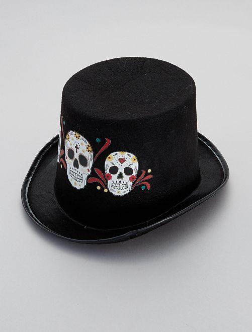 Sombrero 'Día de Muertos'                             negro