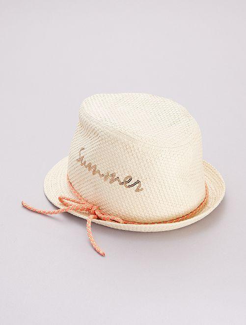 Sombrero estilo borsalino 'Summer'                             BEIGE