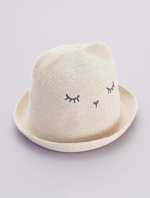 Sombrero flexible de paja                             BEIGE