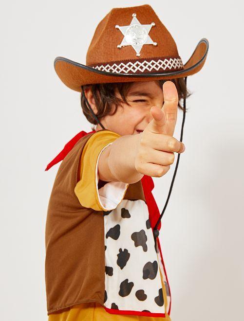Sombrero infantil de sheriff                                         marrón Accesorios