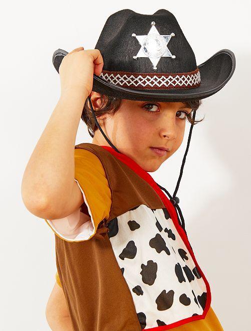 Sombrero infantil de sheriff                                         negro Accesorios