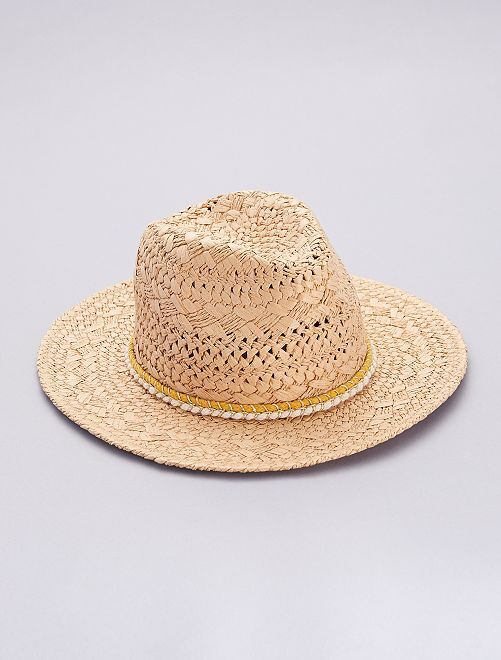 Sombrero tipo borsalino                             MARRON