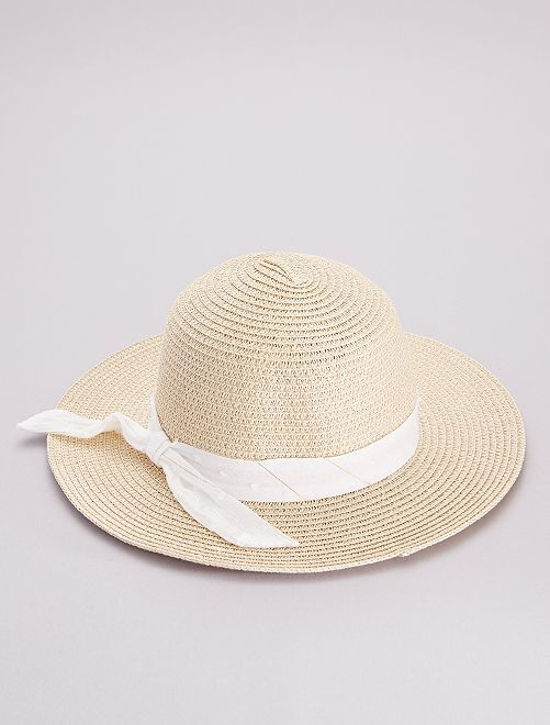 Sombrero tipo pamela                             BEIGE
