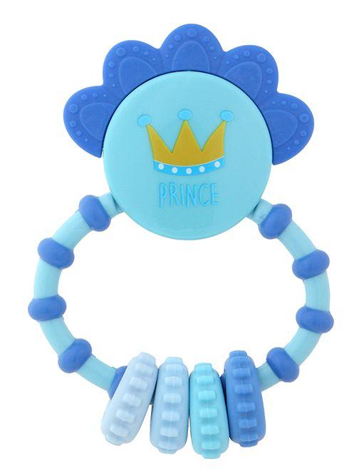 Sonajero con mordedor 'Príncipe'                                         azul Bebé niño
