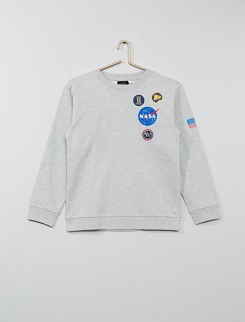 Sudadera bordada 'NASA'                             gris Chico