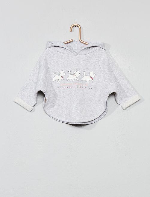 Sudadera capa de felpa 'Los Aristogatos'                             GRIS Bebé niña