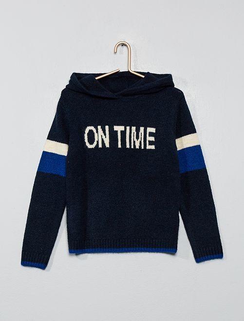 Sudadera capucha de lana                                         azul