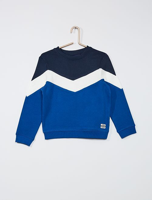 Sudadera colorblock                                                                 azul