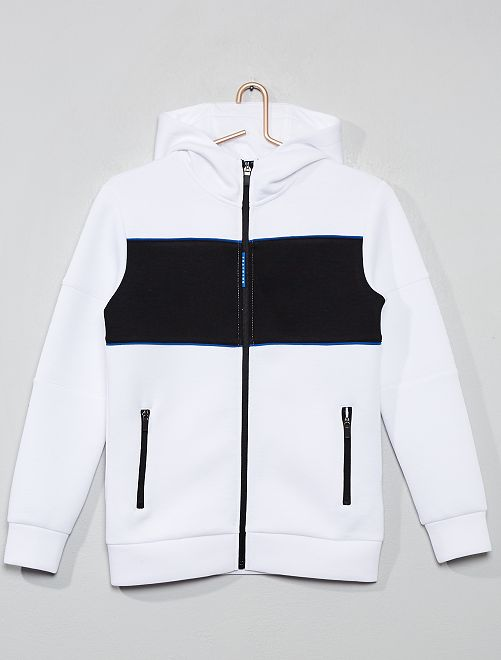 Sudadera colorblock                                                                 BLANCO