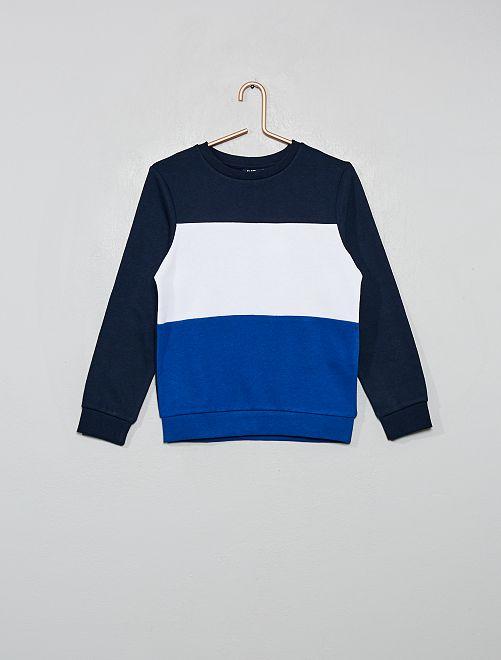Sudadera 'colorblock' tricolor                                                                 azul