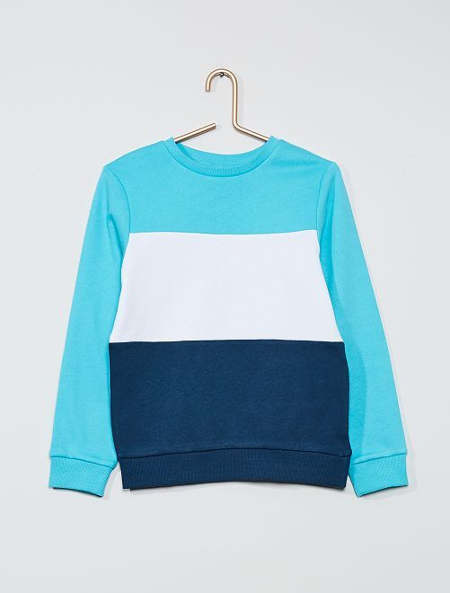 Sudadera 'colorblock' tricolor                                 azul curasao