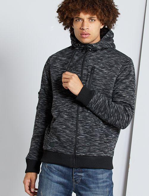Sudadera con capucha con forro de borreguito                                         gris