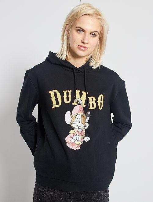 Sudadera con capucha 'Dumbo'                                                                 NEGRO