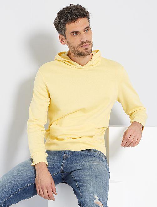 Sudadera con capucha eco-concepción                                                                 amarillo suave