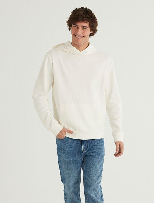 Sudadera con capucha eco-concepción                                         blanco nieve