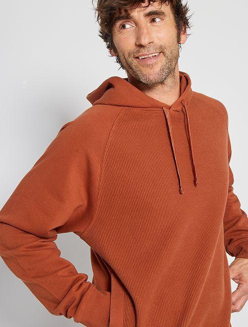 Sudadera con capucha 'eco-concepción'                                                     MARRON