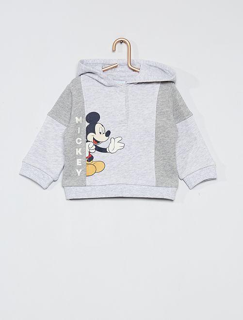 Sudadera con capucha estampada 'Mickey'                     GRIS