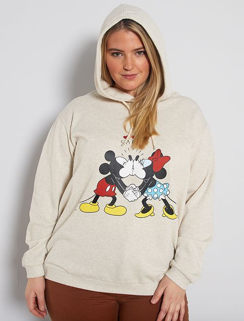 Sudadera con capucha 'Mickey y Minnie'                                         BEIGE