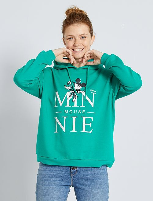Sudadera con capucha 'Minnie'                                                                                                                 VERDE