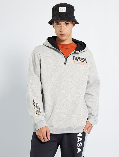 Sudadera con capucha 'NASA'                             GRIS