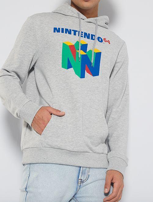 Sudadera con capucha 'Nintendo 64'                             GRIS