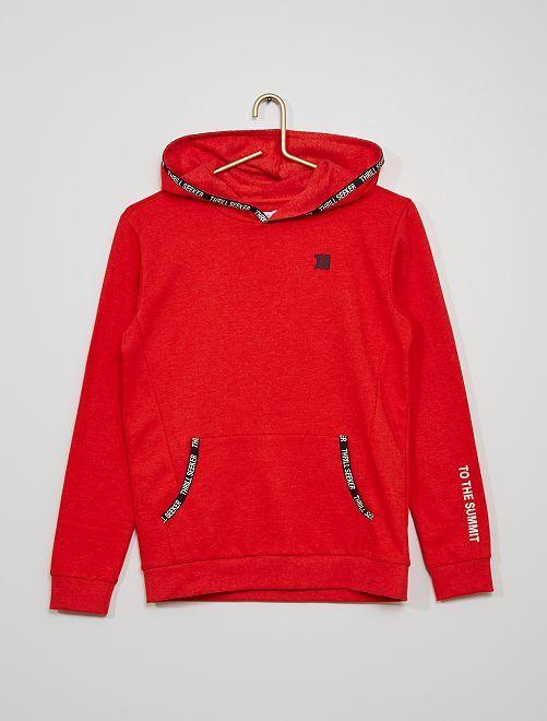 Sudadera con capucha                             rojo