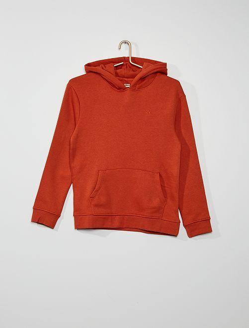 sudadera con capucha                                                                                                                 rojo teja