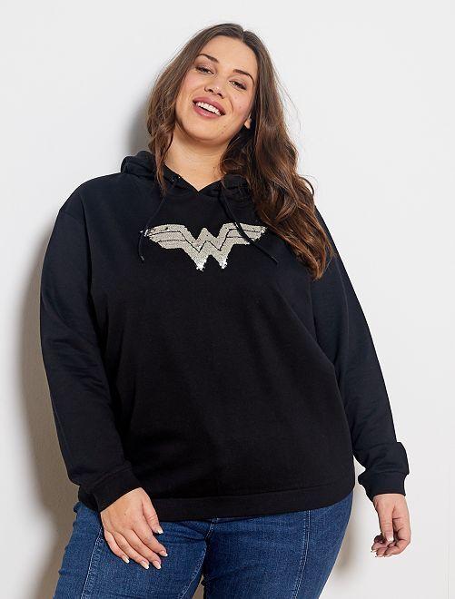 Sudadera con capucha 'Wonder Woman'                             negro