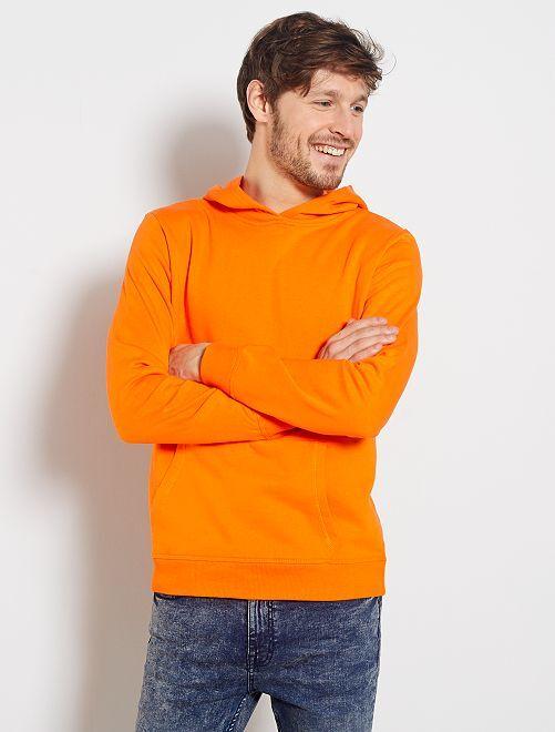 Sudadera con capucha y bolsillos tipo canguro                     naranja