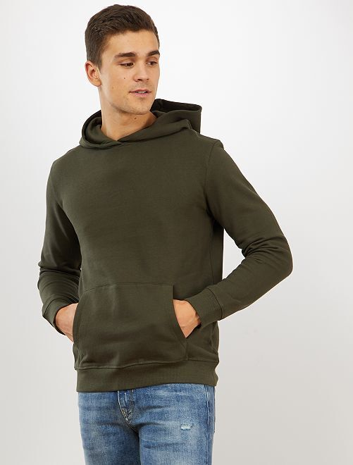Sudadera con capucha y bolsillos tipo canguro                                                                     verde selva