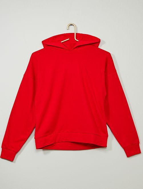 Sudadera con capucha y mensaje                                                                                                     rojo Joven niño