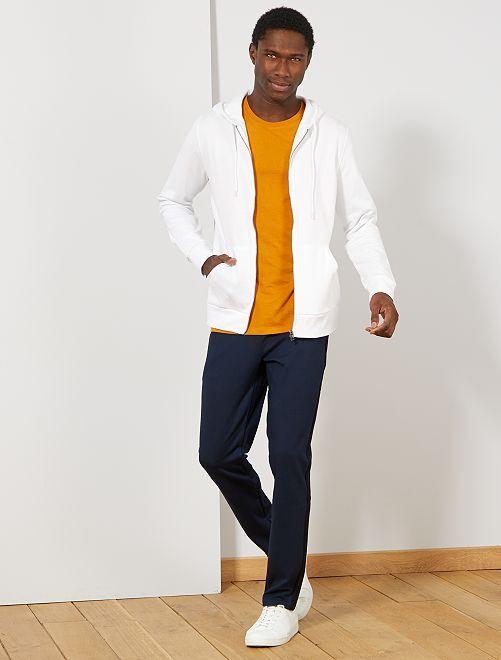 Sudadera con cremallera y capucha                                                                                                                                         blanco