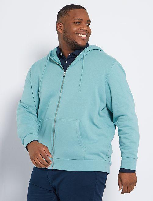 Sudadera con cremallera y capucha eco-concepción                                                                 azul