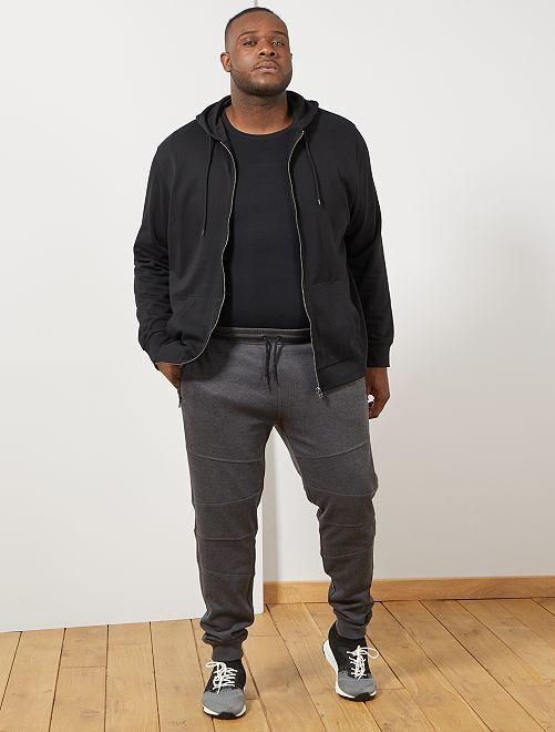 Sudadera con cremallera y capucha                                 negro