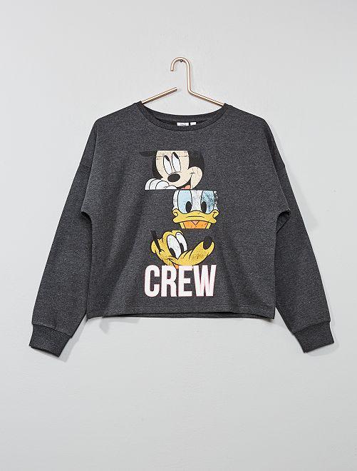 Sudadera corta 'Mickey'                             GRIS Joven niña