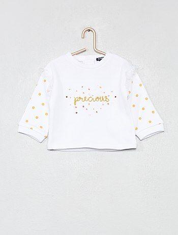 Niña 0-36 meses - Sudadera de algodón  precious  - Kiabi da409ebc8874