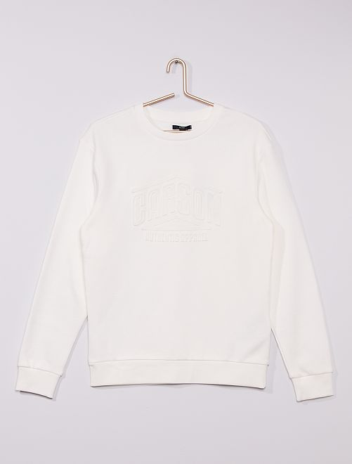 Sudadera de cuello redondo 'Advanced apparel'                                                                 BLANCO