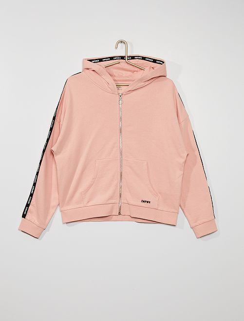 Sudadera de felpa con capucha                                                                             rosa