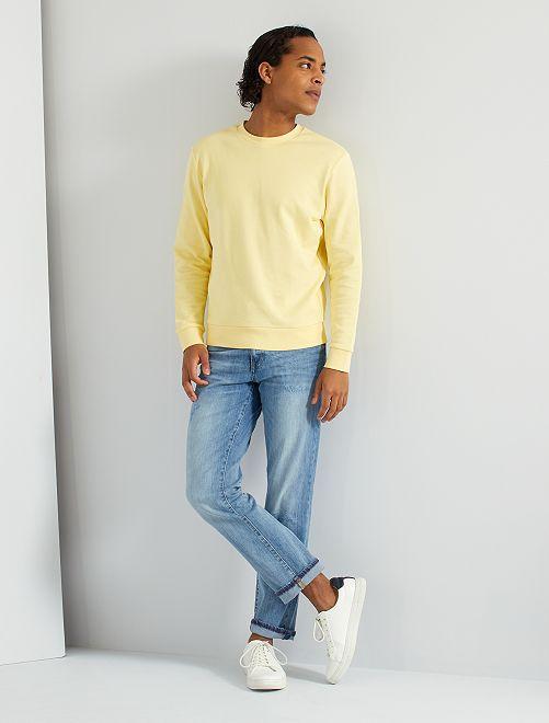 Sudadera de felpa 'eco-concepción'                                                                                                     amarillo suave