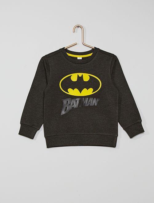 Sudadera de felpa estampada 'Batman'                             antractita