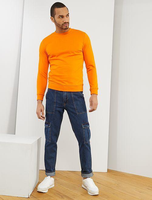 Sudadera de felpa ligera 'eco-concepción'                     naranja