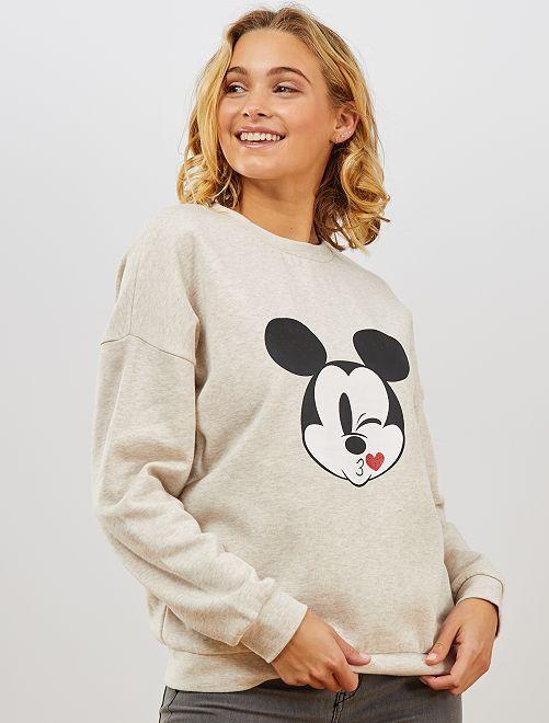 Sudadera de felpa 'Mickey'                                                                 BEIGE