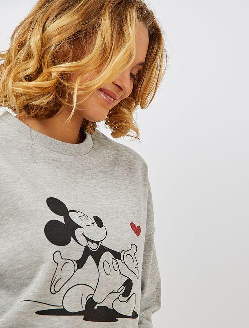 Sudadera de felpa 'Mickey'                                                                 GRIS