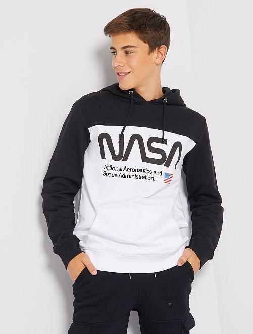 Sudadera de felpa 'NASA'                             BLANCO