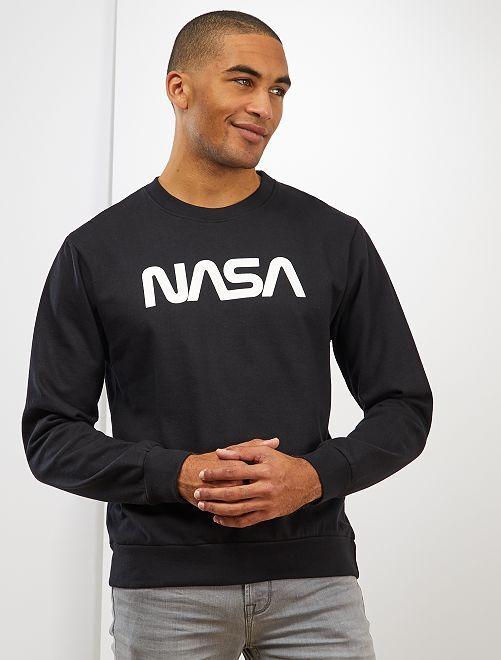 Sudadera de felpa 'NASA'                             negro