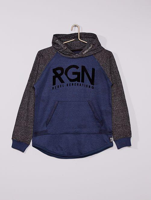 Sudadera de felpa 'Rebel Generation'                             azul
