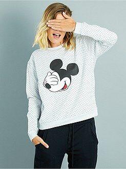 Mujer Sudadera de lunares con estampado 'Mickey'